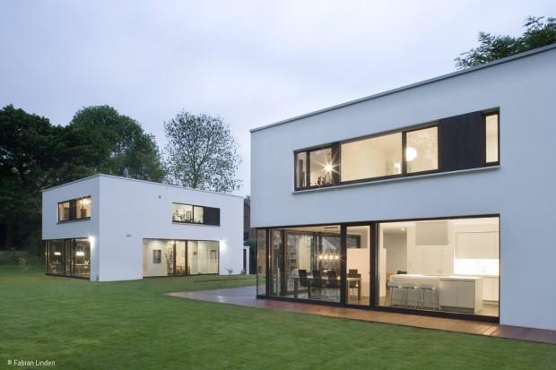 Zwei Häuser, eine Architektur-Sprache