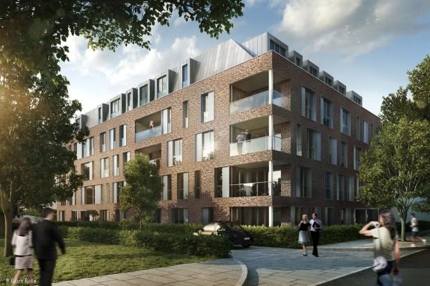 Neues Quartier in Rheinnähe