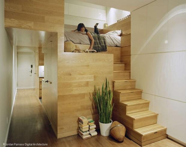Architektur der kleinen Räume