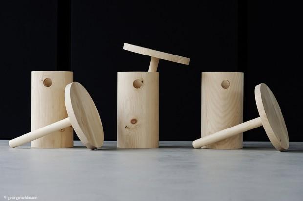 Melkschemel als Design-Objekt