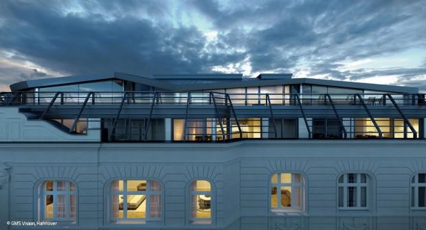 Über den Dächern Hamburgs