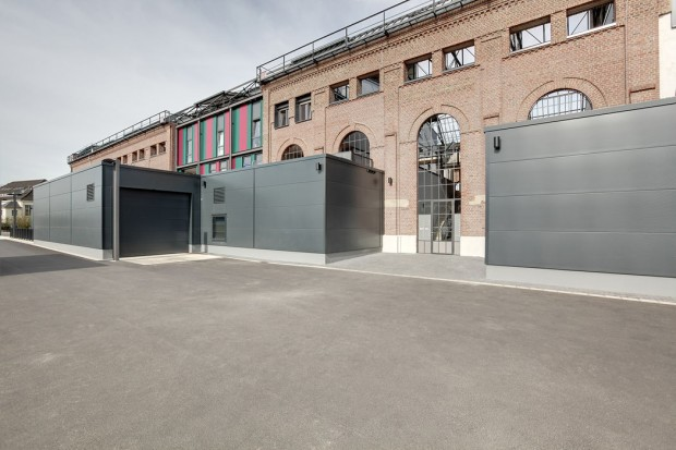 Terrasse mit Industrienatur