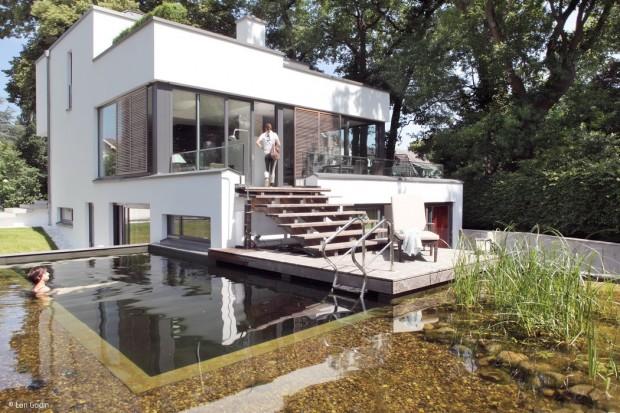 Villa mit Elbblick und Biotop